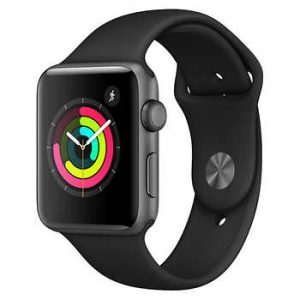 Watch Series 2 Aluminum (42mm), Space Gray, Anthracite/Black Nike Sport Band