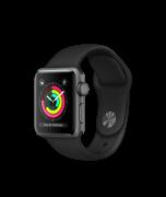 Watch Series 3 Aluminum (42mm), Black Sport
