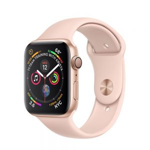 Watch Series 4 Aluminum Cellular (40mm), Gold, Pink Sand Sport Band