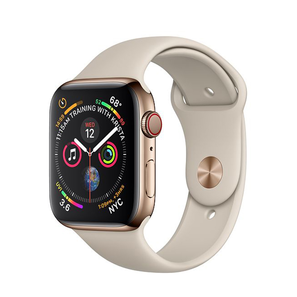 Watch Series 4 Steel Cellular (40mm), Gold, Gold Milanese Loop