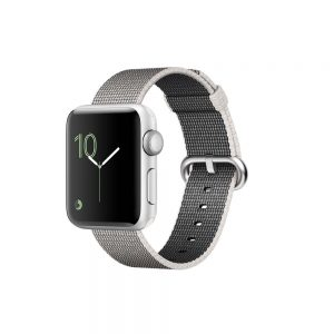 Watch Series 2 Aluminum (42mm), Silver, Pearl woven nylon band