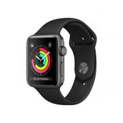 Watch Series 3 (42mm), Space Gray, Black Sport Band