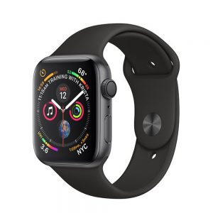 Watch Series 4 Aluminum (44mm), Space Gray, Black Nike Sport Loop