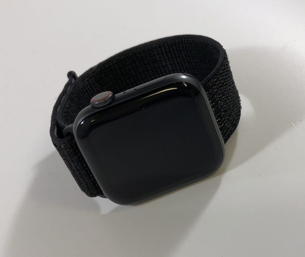 Watch Series 4 Aluminum Cellular (44mm), Space Gray, Black Sport Loop, image 1