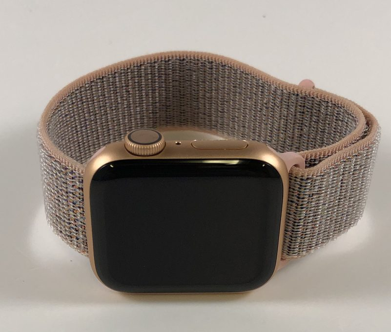 Watch Series 4 Aluminum (40mm), Gold, Pink Sand Sport Loop, imagen 1