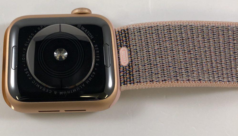 Watch Series 4 Aluminum (40mm), Gold, Pink Sand Sport Loop, imagen 2