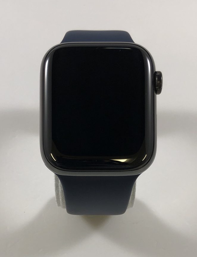 Watch Series 4 Steel Cellular (44mm), Space Black, Midnight Blue Sport Band, bild 1