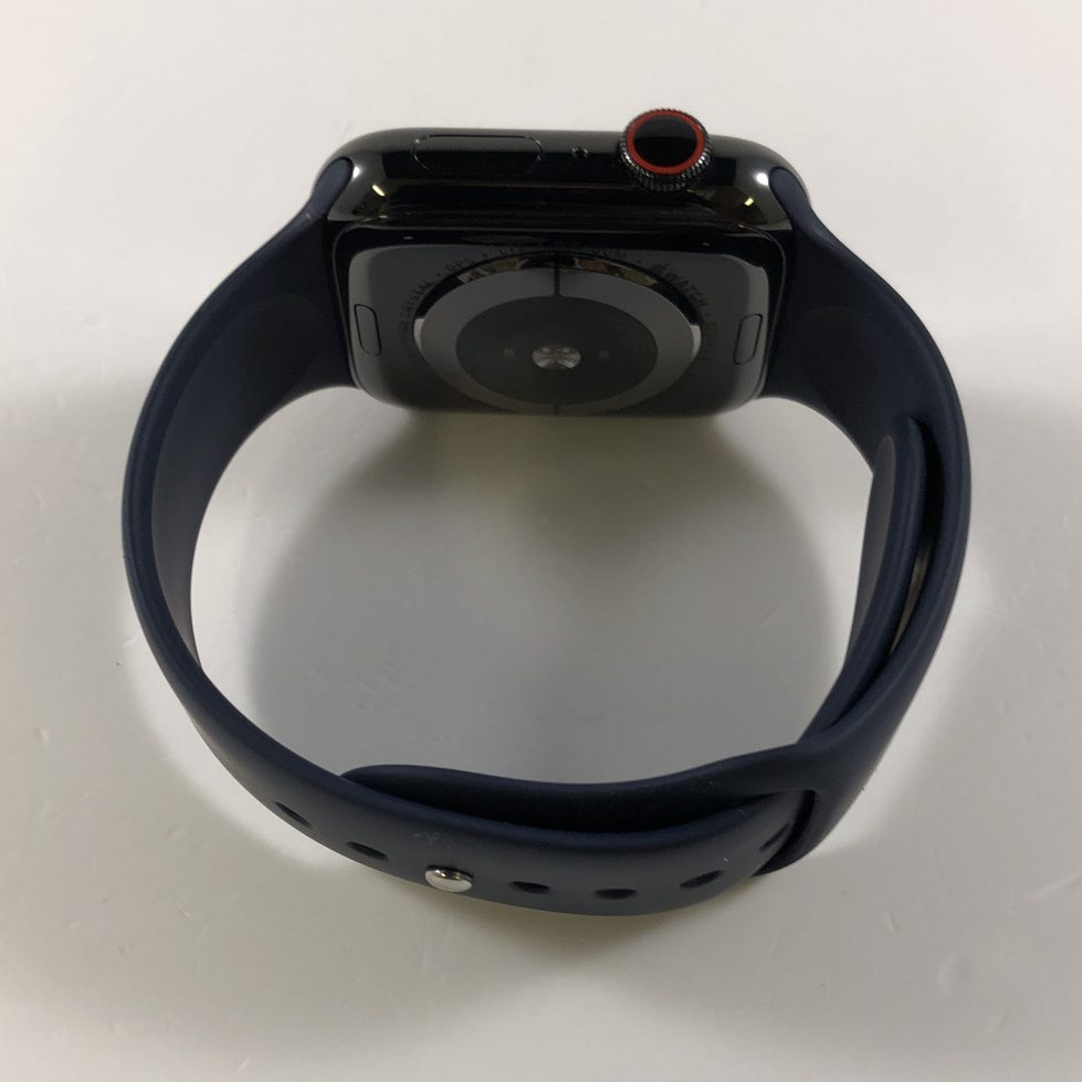 Watch Series 4 Steel Cellular (44mm), Space Black, Midnight Blue Sport Band, bild 2