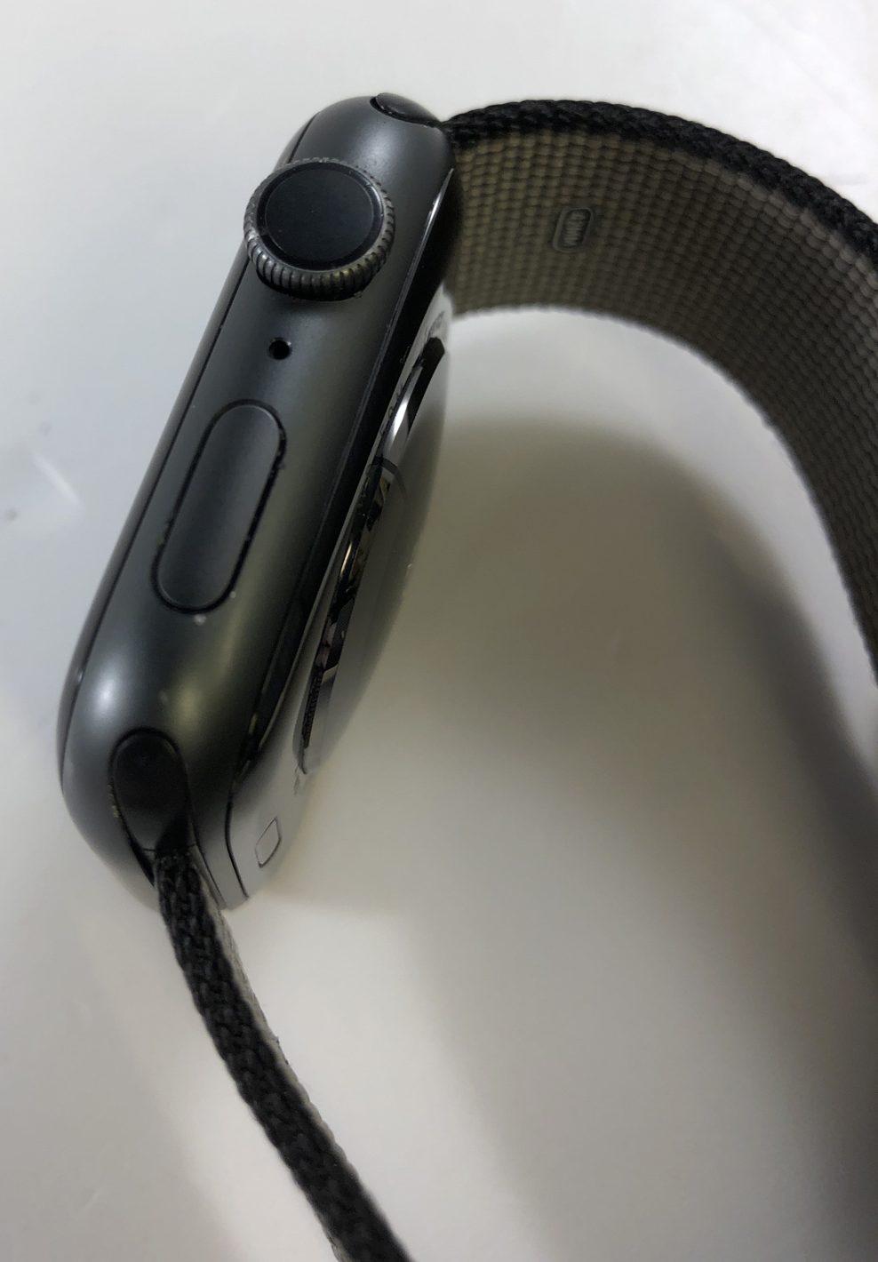 Watch Series 4 Aluminum (44mm), Space Gray, Woven nylon, imagen 4
