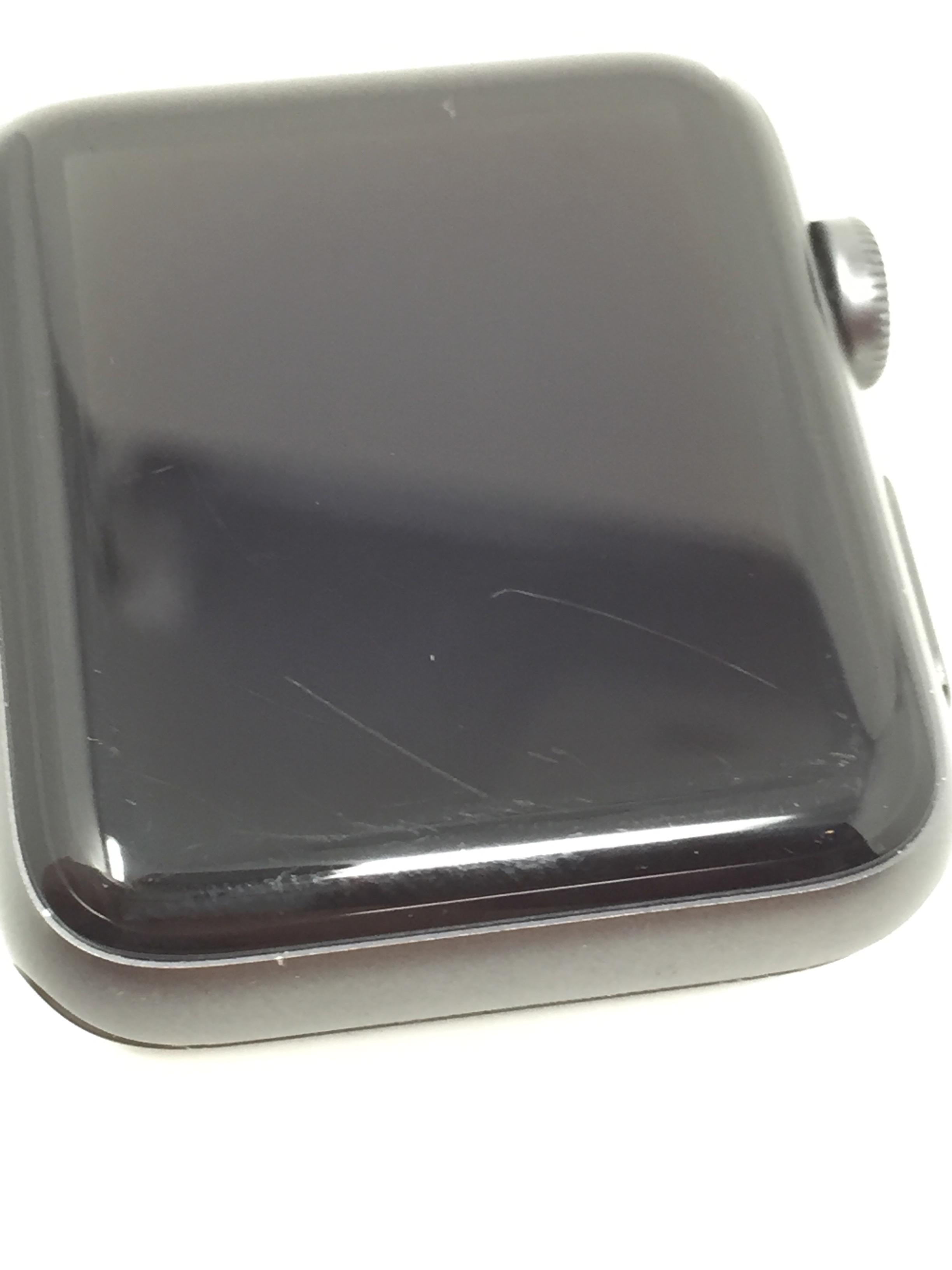 Watch Series 2 Aluminum (42mm), Space Gray, Black Sport Band, imagen 4
