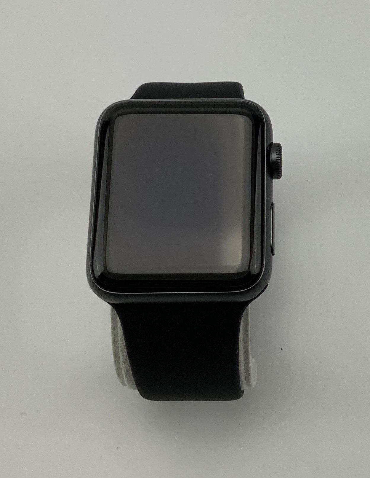 Watch Series 3 Aluminum (42mm), Space Gray, Black Sport Band, imagen 1
