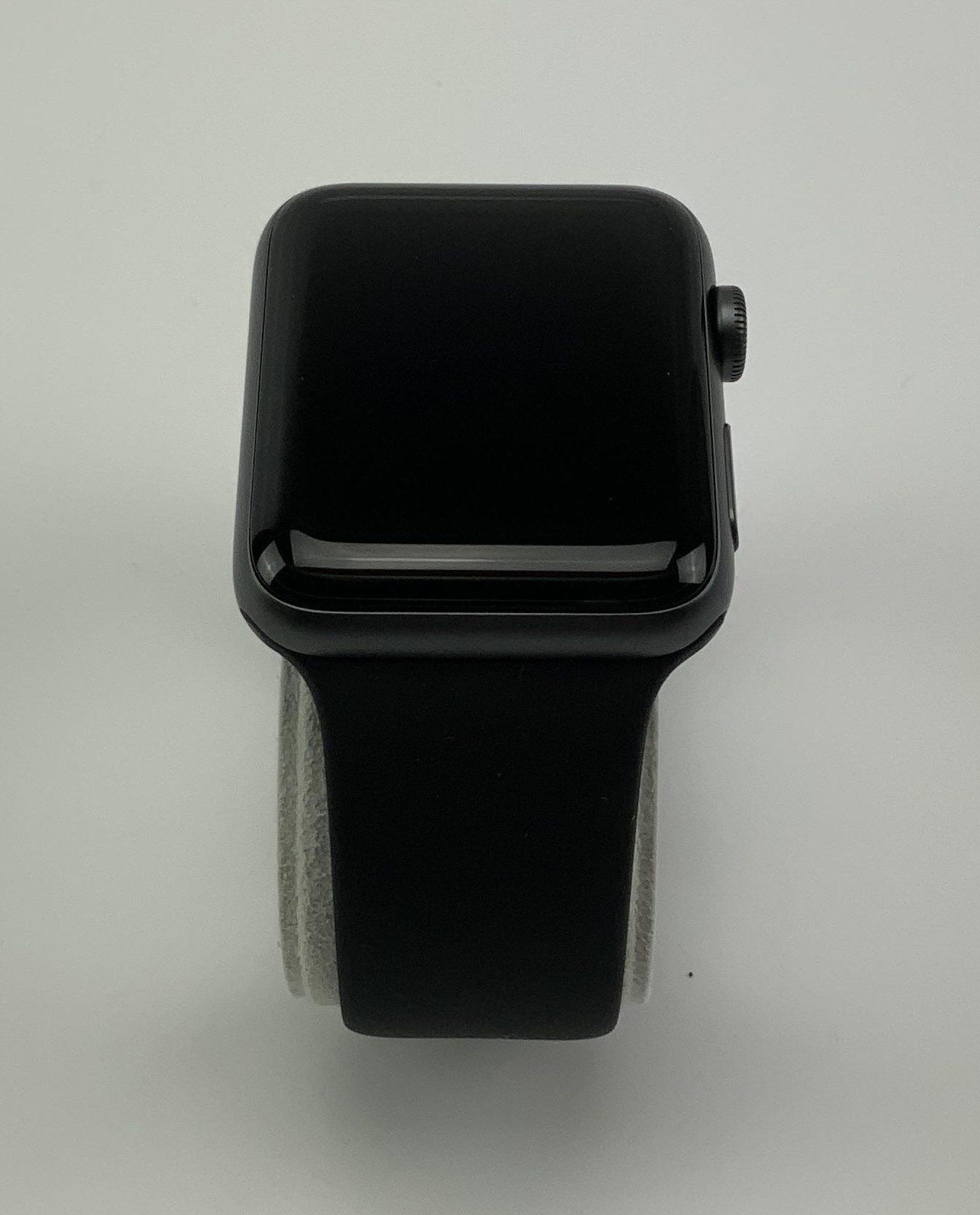 Watch Series 3 Aluminum (42mm), Space Gray, Black Sport Band, imagen 2
