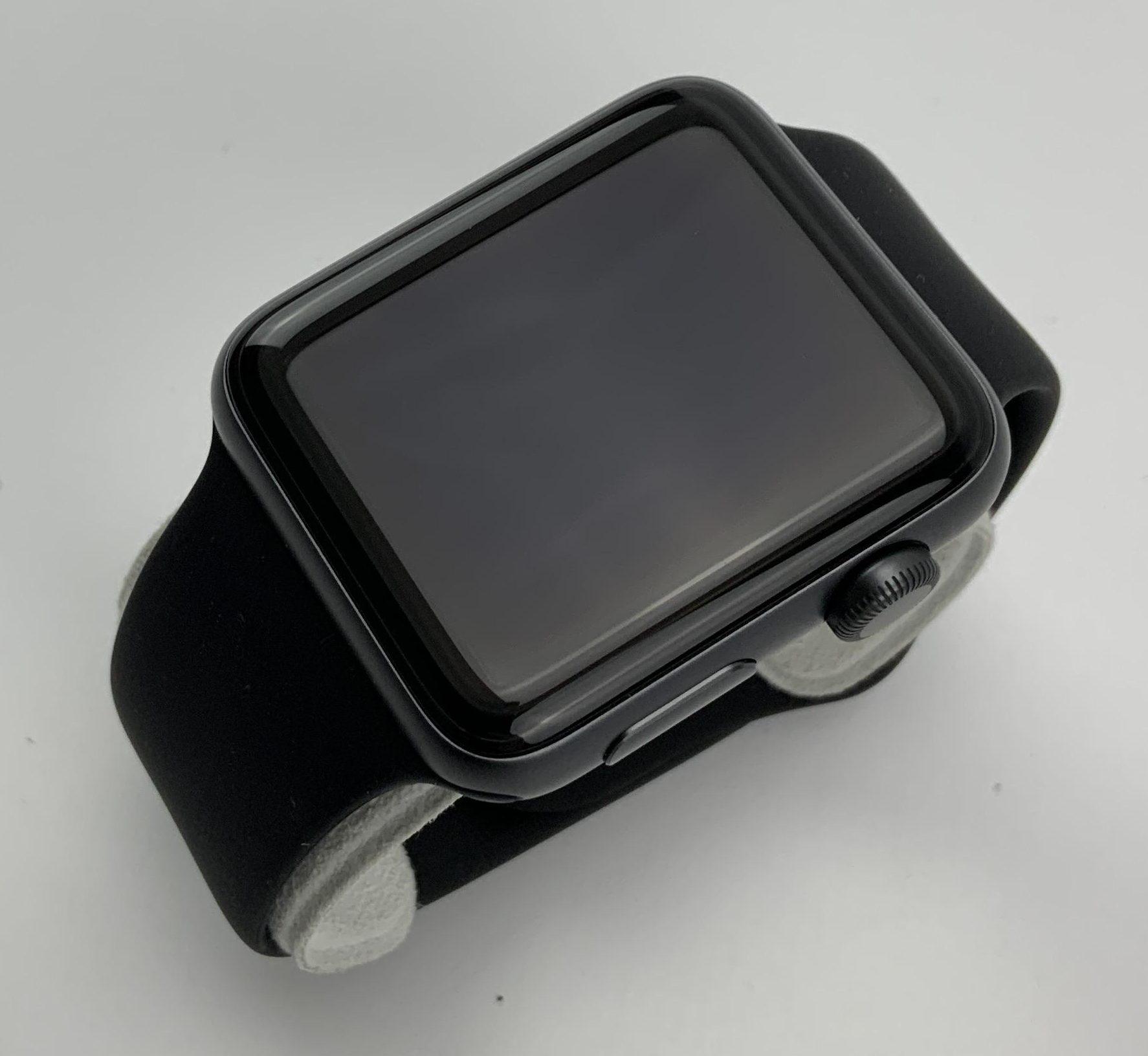 Watch Series 3 Aluminum (42mm), Space Gray, Black Sport Band, imagen 3