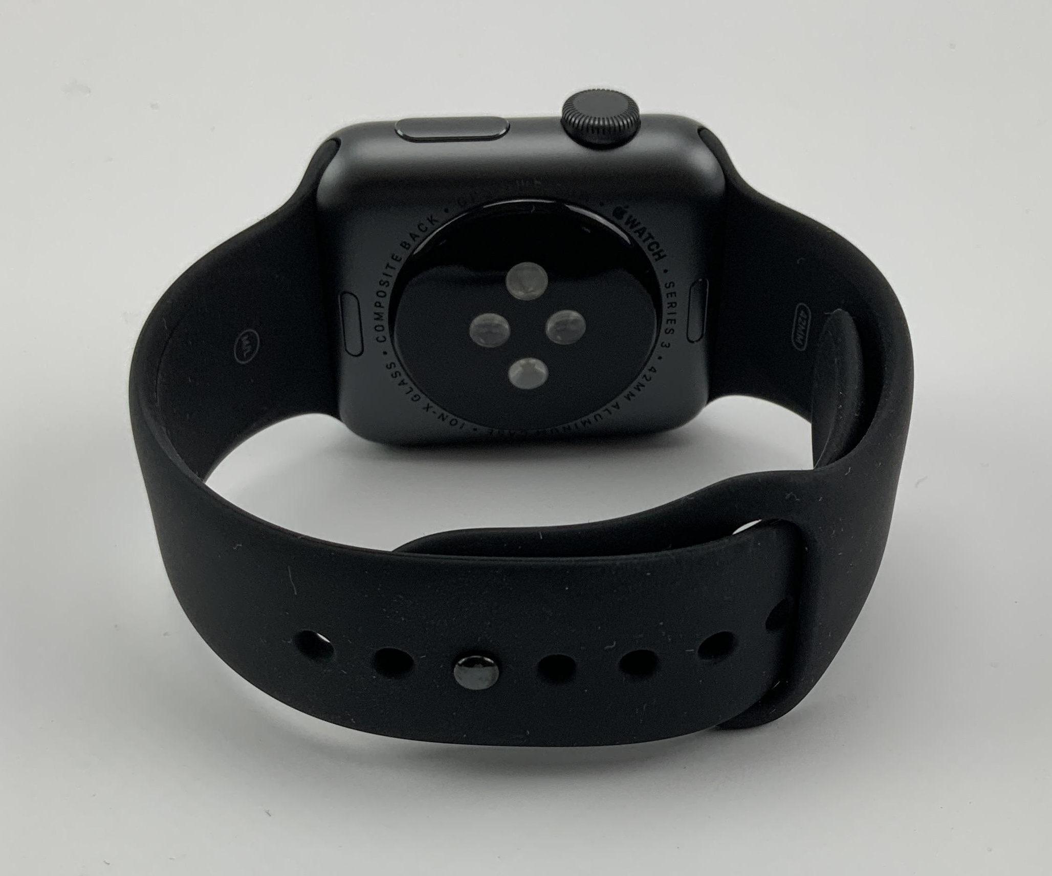 Watch Series 3 Aluminum (42mm), Space Gray, Black Sport Band, imagen 5