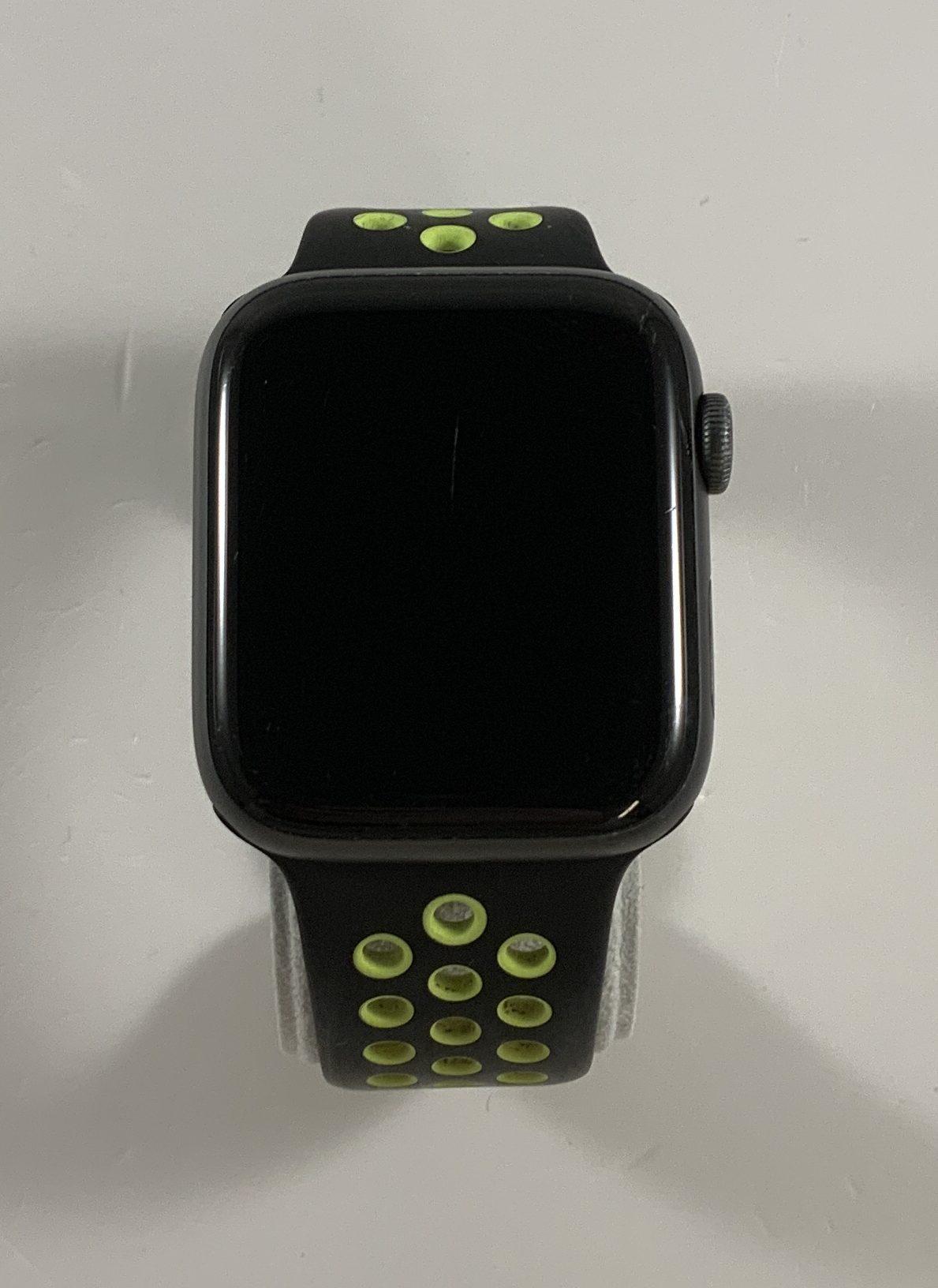 Watch Series 4 Aluminum (44mm), Space Gray, Black/Volt Nike Sport Band, bild 1